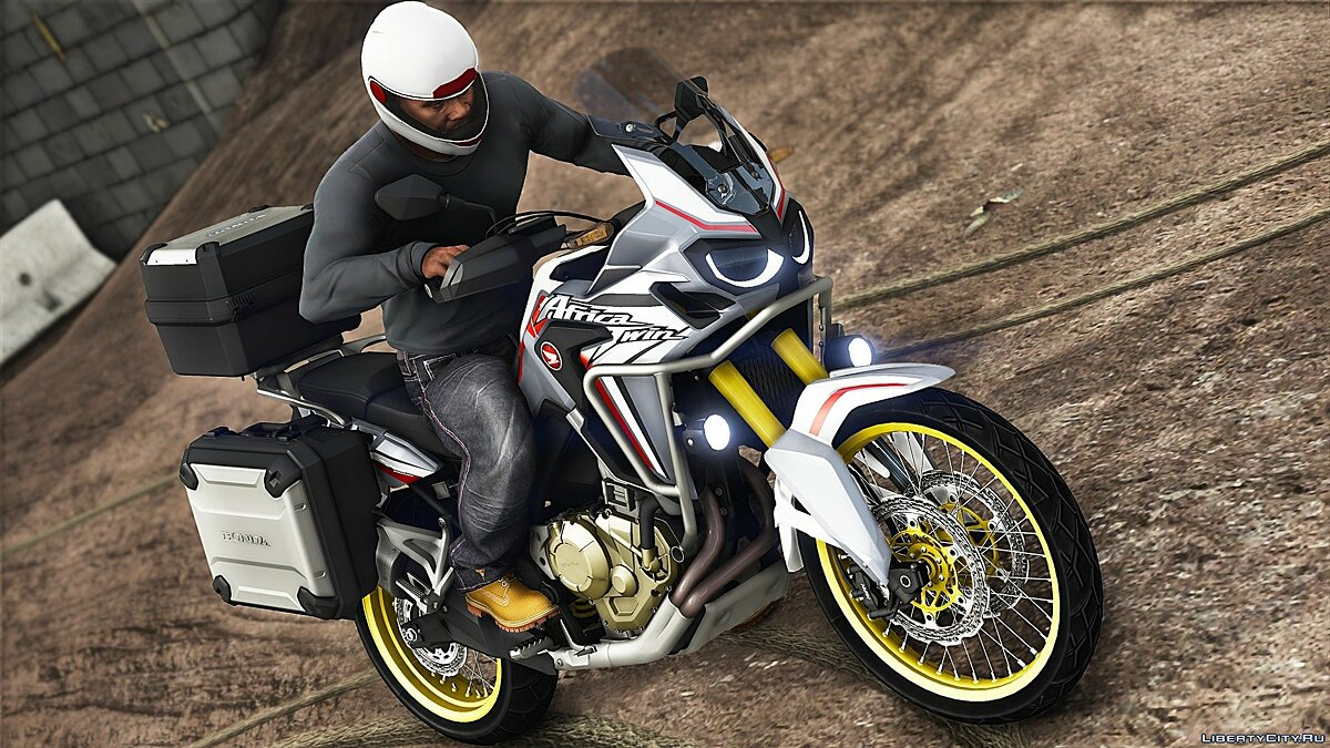 Motorbike 2017 Honda CRF1000L Africa Twin [Addons | Tuning] for GTA 5