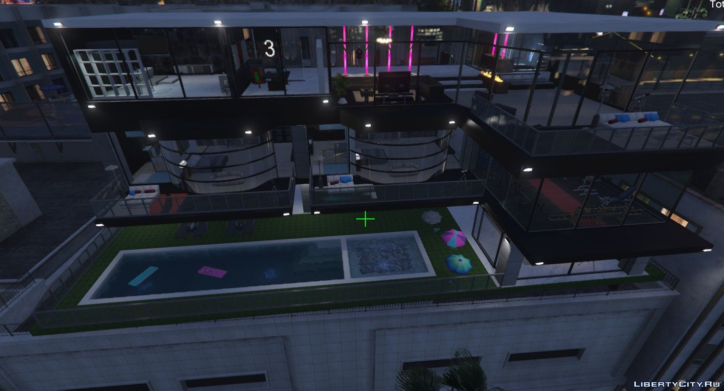 Three-storey house with parking for GTA 5