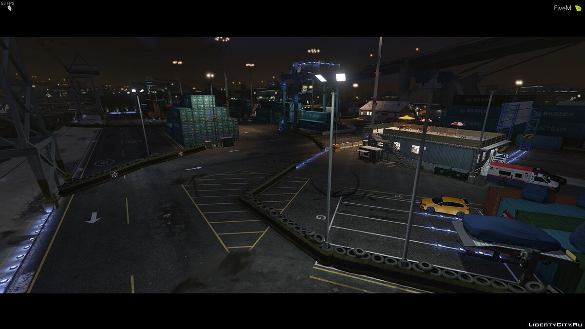 New object Raceway at the docks for GTA 5