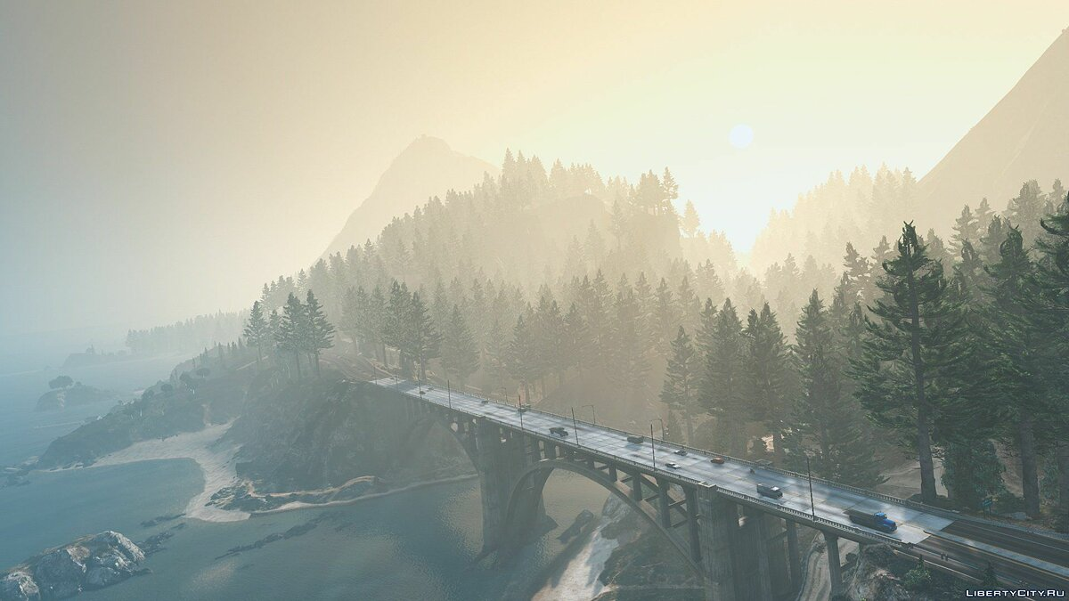 New object Forests of Chiliad (Redwood, Cedar trees + Cabin) [Add-On | YMAP] for GTA 5