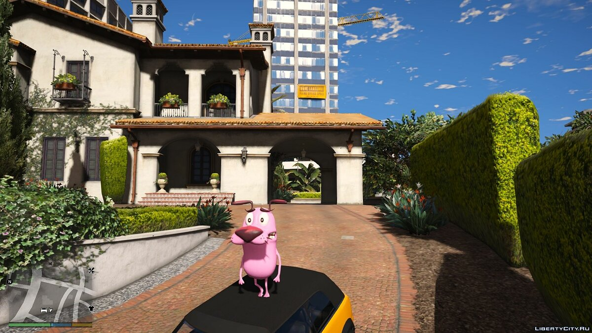 New character Courage the Cowardly Dog 1.0 for GTA 5
