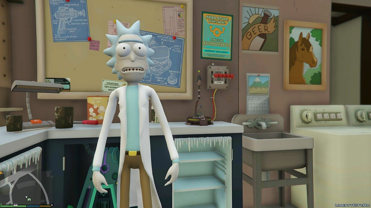 New character Rick Sanchez (Rick and Morty) [Add-On] 2.2 for GTA 5
