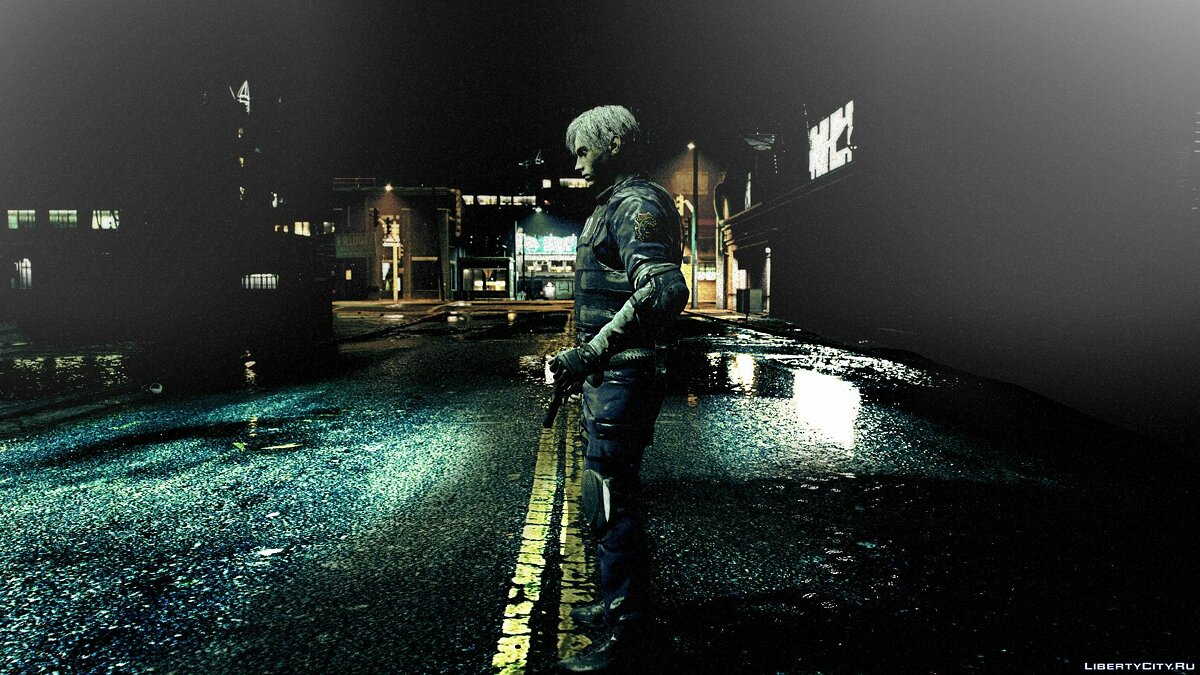 New character Leon Kennedy from
