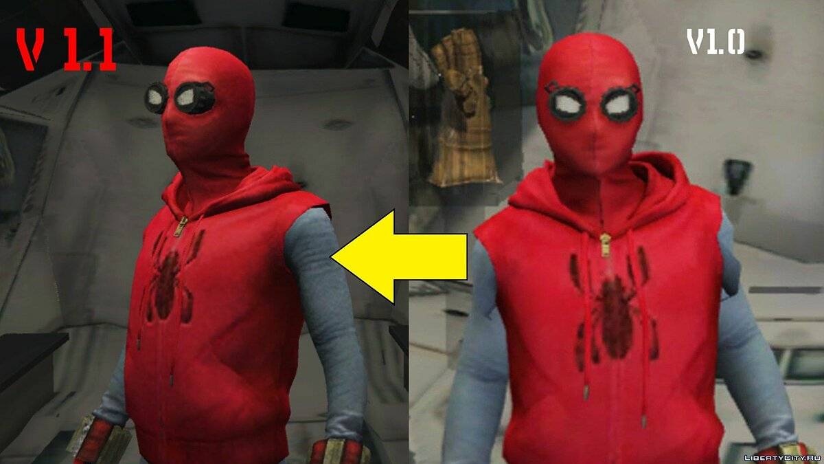 New character Spider-Man Home-Made Suit (Fixed shaking issue) 1.2 for GTA 5