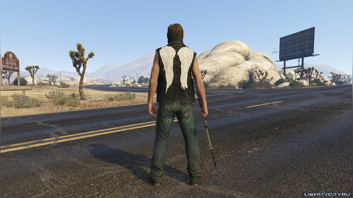 New character Daryl Dixon from the series The Walking Dead for GTA 5
