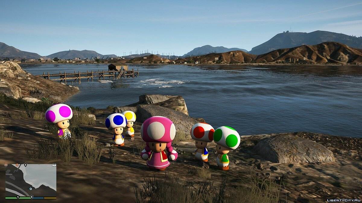 New character Super Mario Toads [Add-On Ped] 1.0 - A Pack of Super Mario Mushrooms for GTA 5