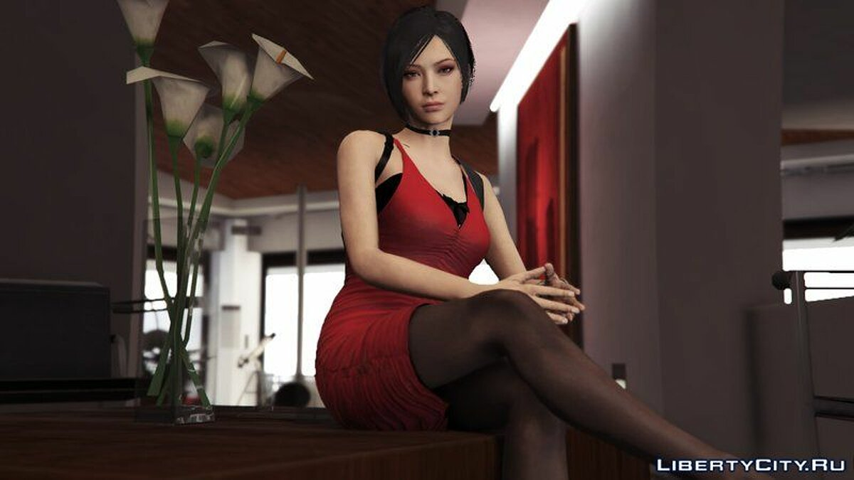 New character Ada Wong of Resident Evil 2 Remake [Add-On Ped   Replace] for GTA 5