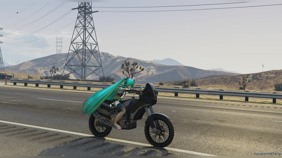 New character Miku Hatsune from PDFT [Add-On Ped] 3.2 for GTA 5