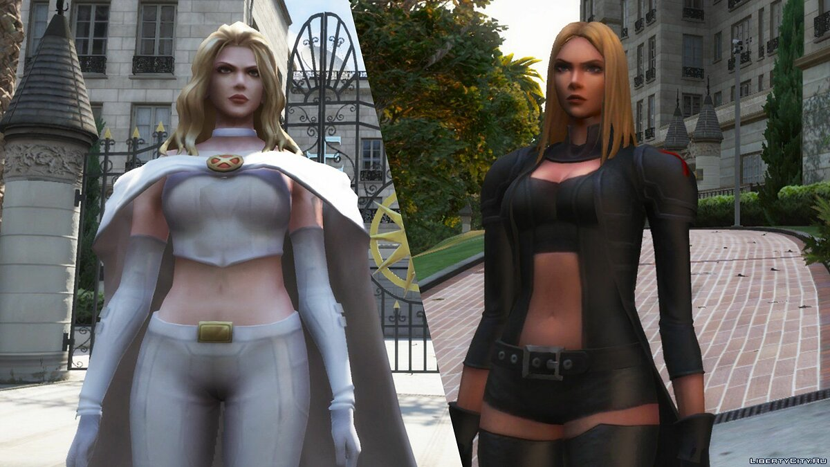 New character Эмма Фрост X-Men [Add-On Ped] 1.0 for GTA 5