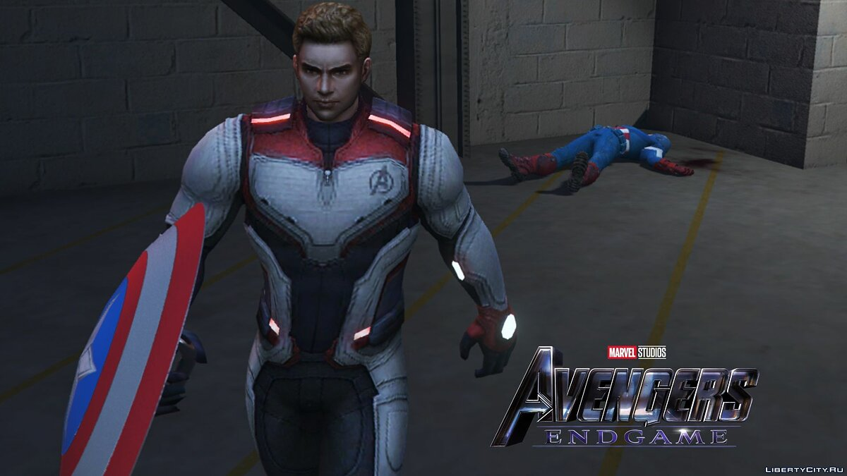 "Captain America from the movie ""The Avengers Finale"" for GTA 5 - screenshot #5"