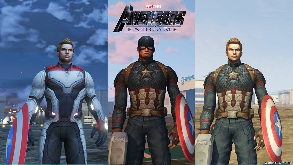 "Captain America from the movie ""The Avengers Finale"" for GTA 5 - screenshot #2"