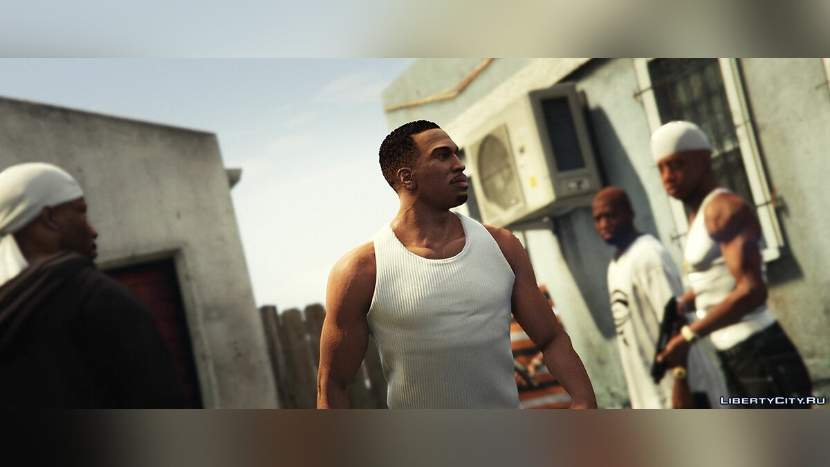 New character Carl Johnson HD [BETA] 3.3 for GTA 5