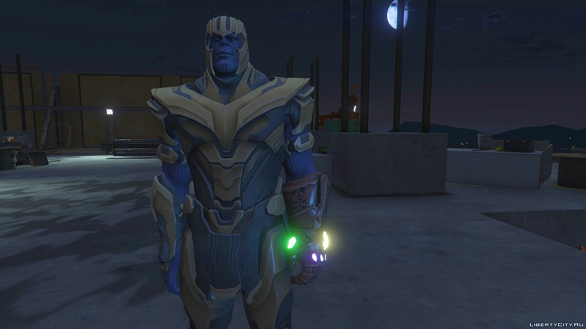 New character Thanos Fortnite Version [Add-on Ped] 1.0 for GTA 5