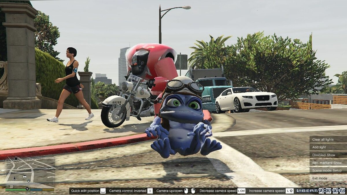 New character Crazy Frog with sound + robot drone for GTA 5