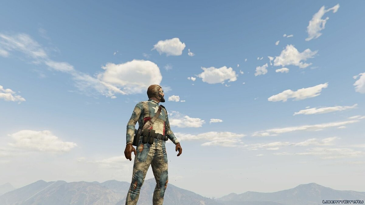 New character HD Captain America for GTA 5