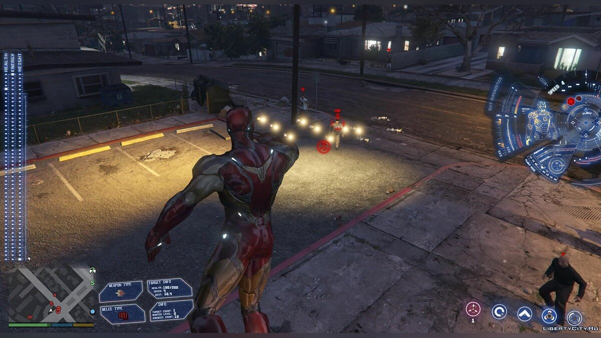 New character Iron Man from the movie