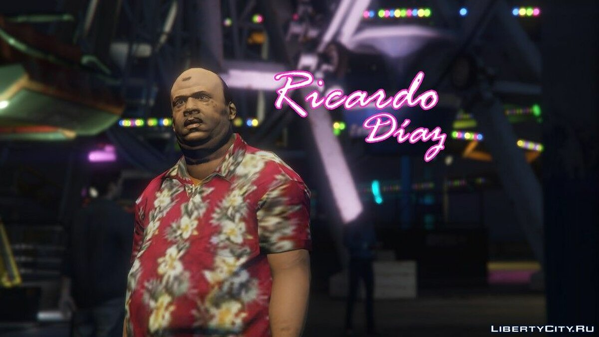 New character Ricardo Diaz from the game