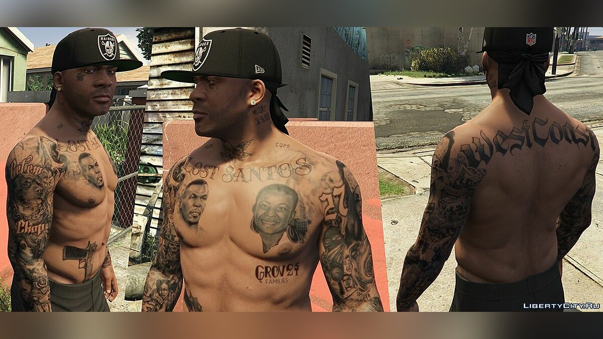 New character [FRANKLIN | replace] [WIP] tatted up ... 0.1 for GTA 5