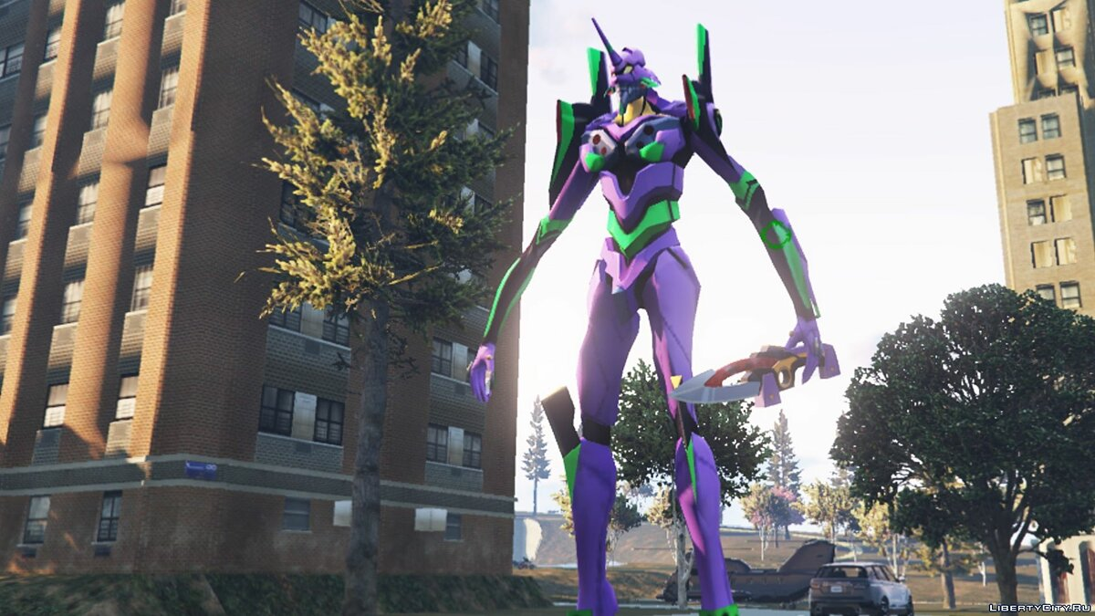 New character EVA Unit 01 from the anime