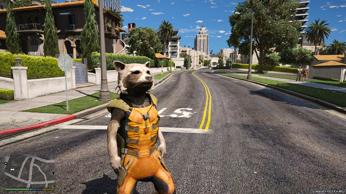 New character Rocket Raccoon from Guardians of the Galaxy - Big & smalls version [Add-On / Replace PED] 1.0 for GTA 5