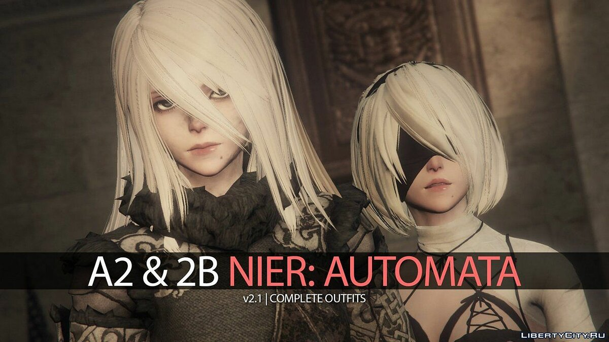 New character 2B & A2 Nier Automata [Add-On Ped | Replace] v2.1 for GTA 5