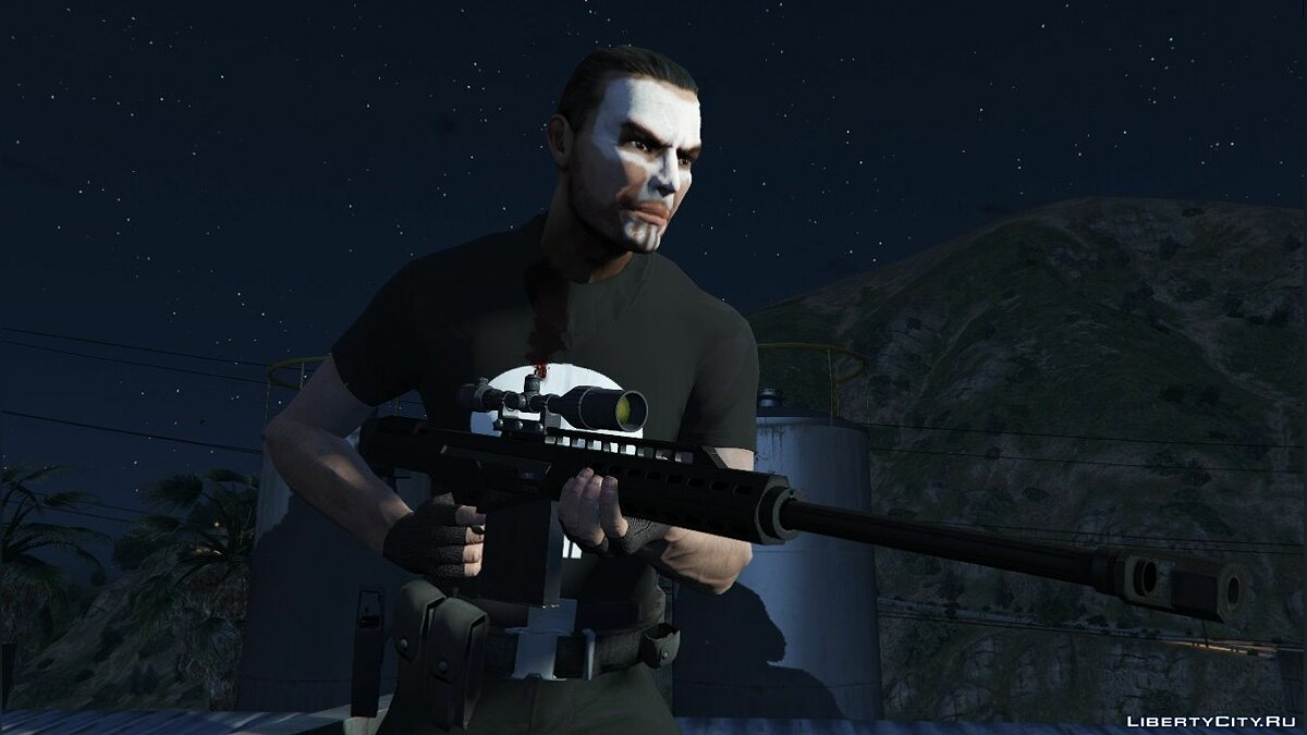 New character Frank Castle from The Punisher for GTA 5