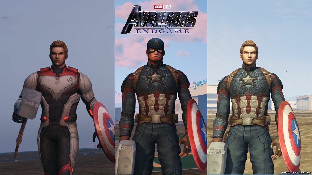 "Captain America from the movie ""The Avengers Finale"" for GTA 5"