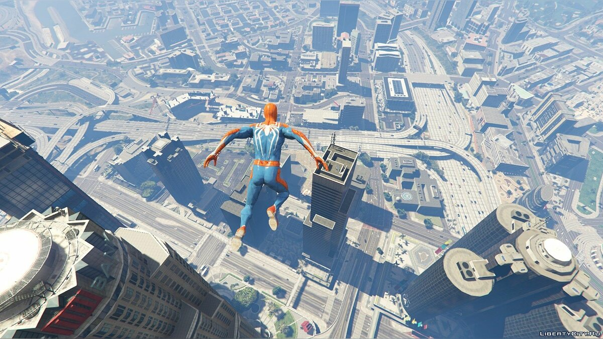 New character Spiderman in a suit from the PS4 exclusive game for GTA 5