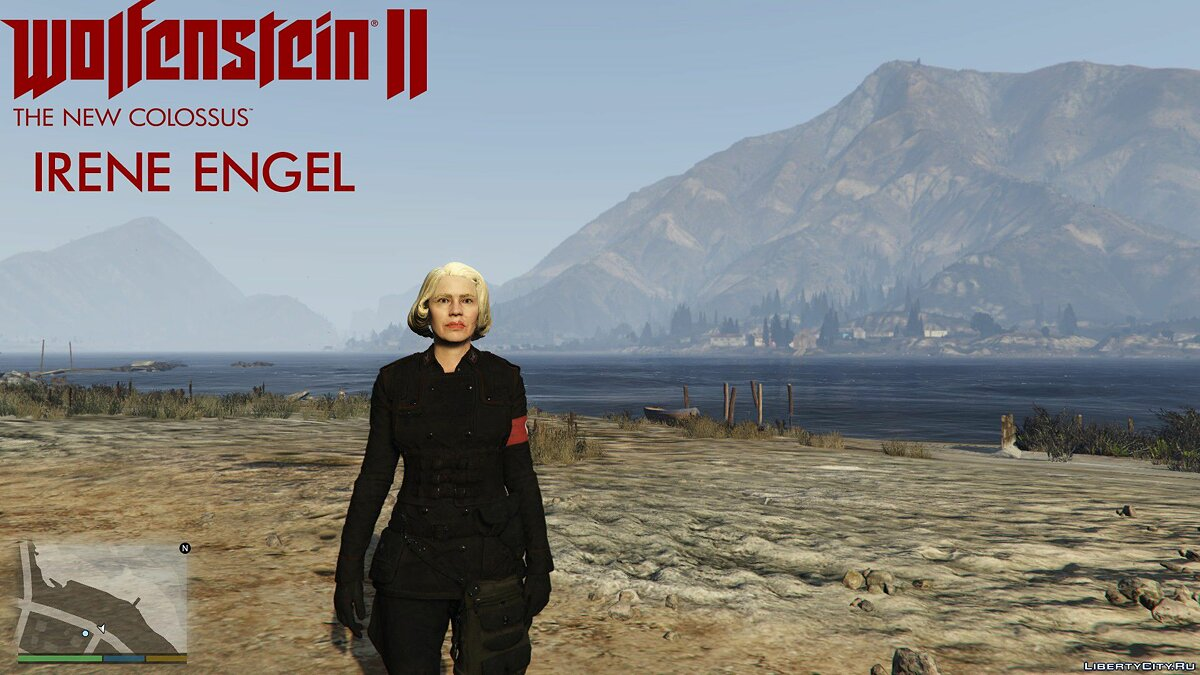New character Wolfenstein II The New Colossus - Irene Engel for GTA 5