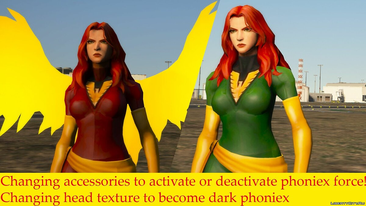 New character Jean Grey из игры Marvel Future Fight for GTA 5