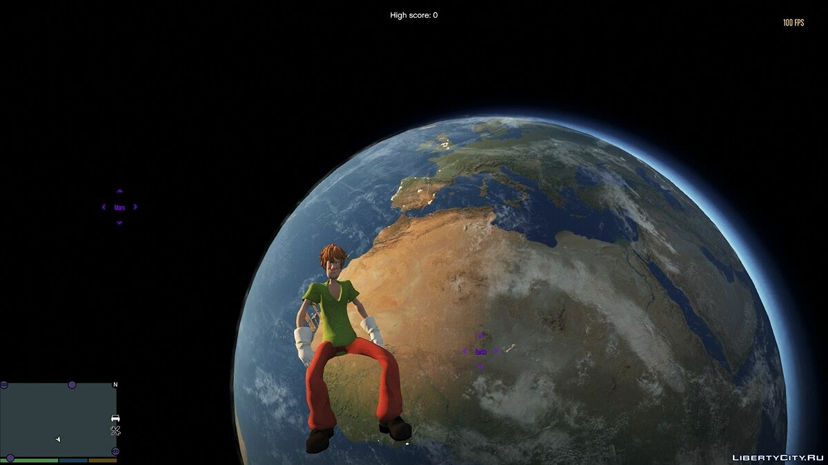 New character Shaggy from the Jump Force game for GTA 5