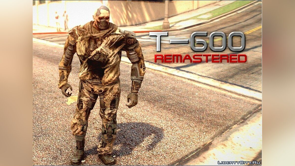 New character Terminator T-600 Remastered (re-texture) v1.0 for GTA 5