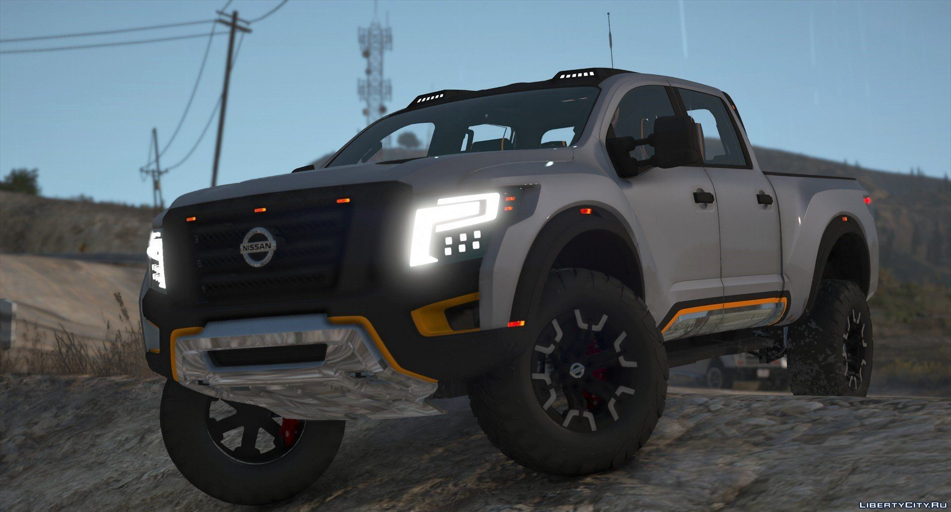 Nissan Titan Warrior 2017 Add On Replace Livery Extras Template Tuning Dirt 2 2 For Gta 5