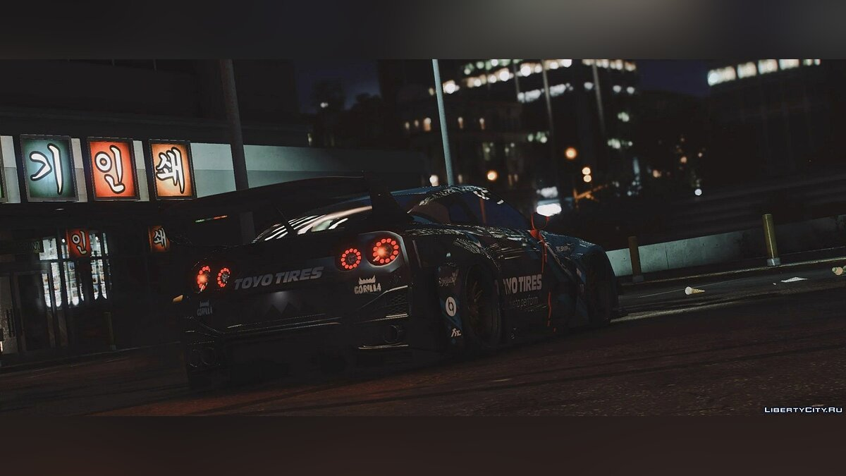 Nissan car Nissan GTR R35 Liberty Walk Silhouette [Add-On | Template] 1.0 for GTA 5