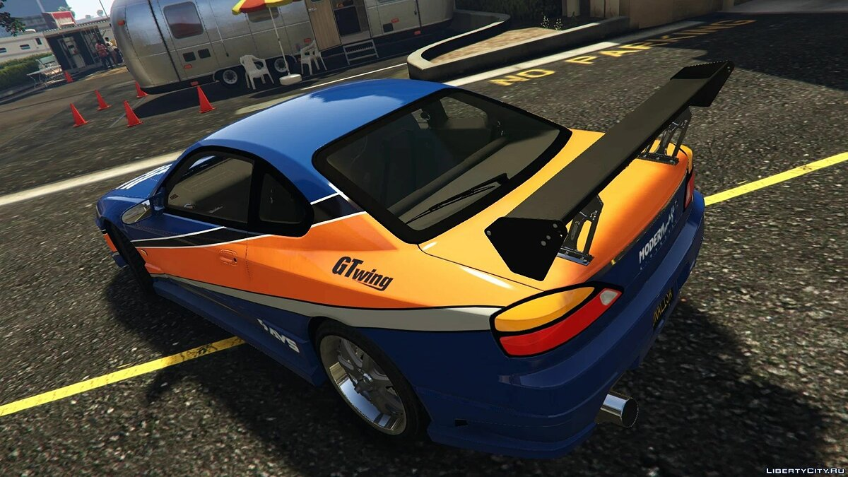 Nissan car Nissan Silvia S15 Spec-S 'Mona Lisa' '99 [Tokyo Drift] [Addon - Replace] 1.0 for GTA 5