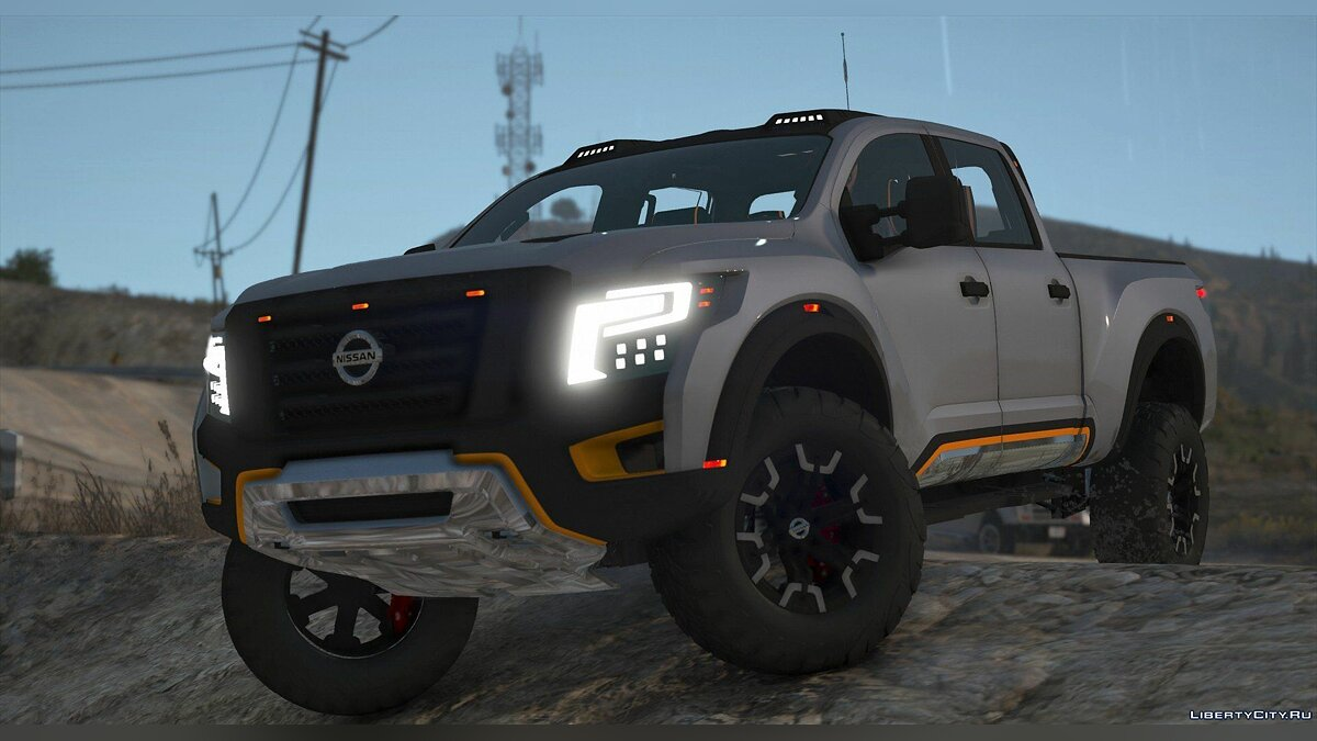 Nissan car Nissan Titan Warrior 2017 [Add-On | Replace | Livery | Extras | Template] 2.1 for GTA 5