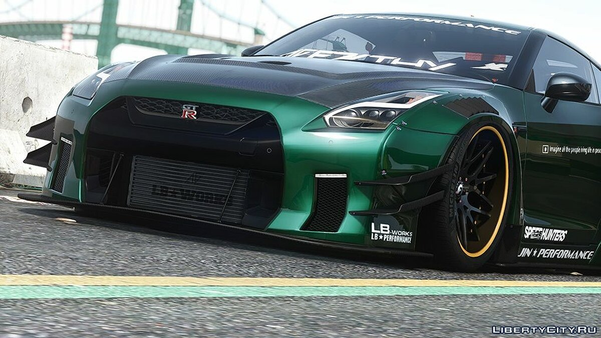 Nissan car 2019 Nissan GT-R Liberty walk LB Performance (The second generation) [Add-On] for GTA 5