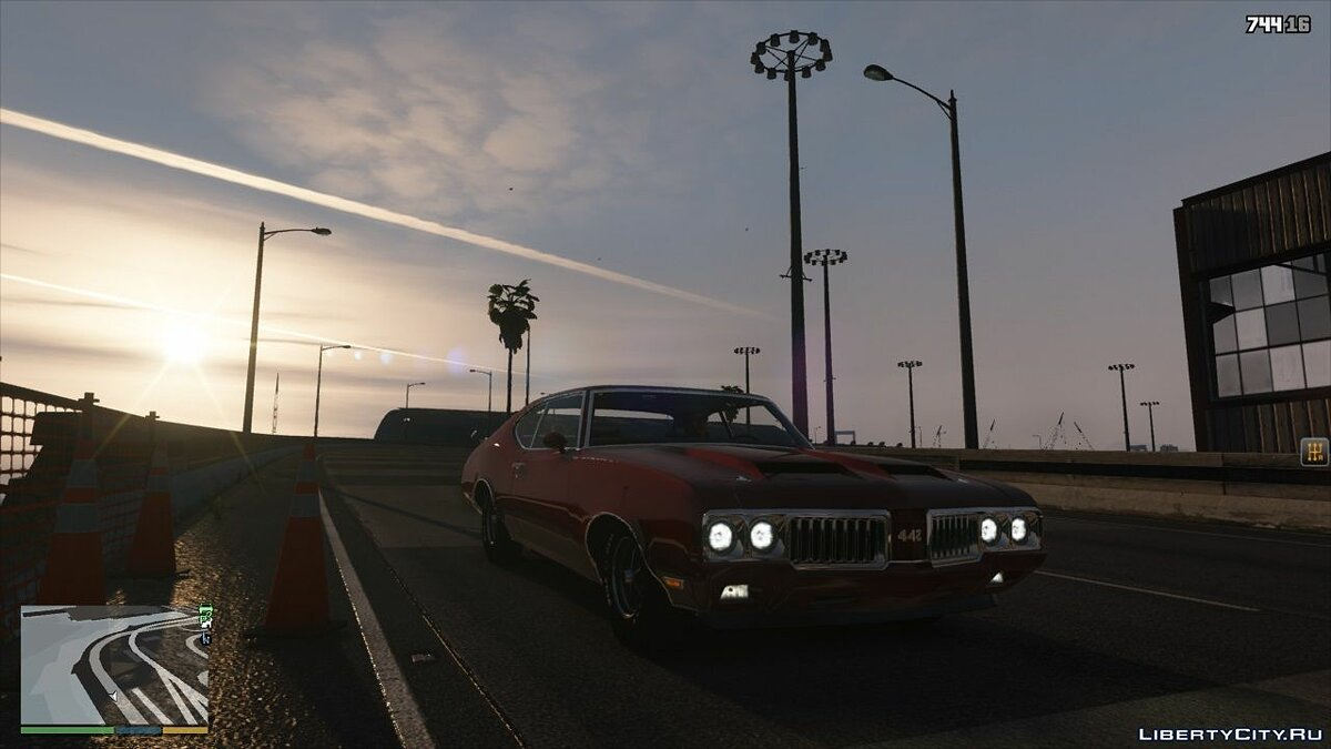 Oldsmobile car Oldsmobile 442 '1970 [Replace / Tuning] 1.0 for GTA 5