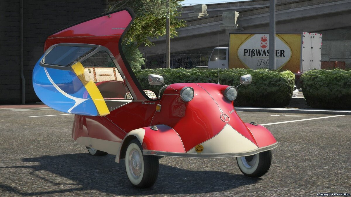 Other car 1955-63 Kabinenroller Messerschmitt KR 200 [Add-On / Replace | Animated | Extras] 1.0 for GTA 5