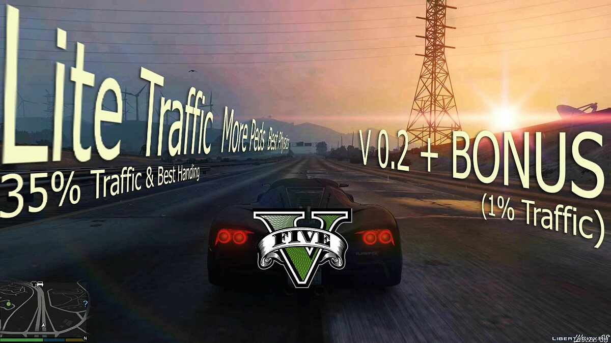 Lite Traffic More Peds Best Physics for GTA 5