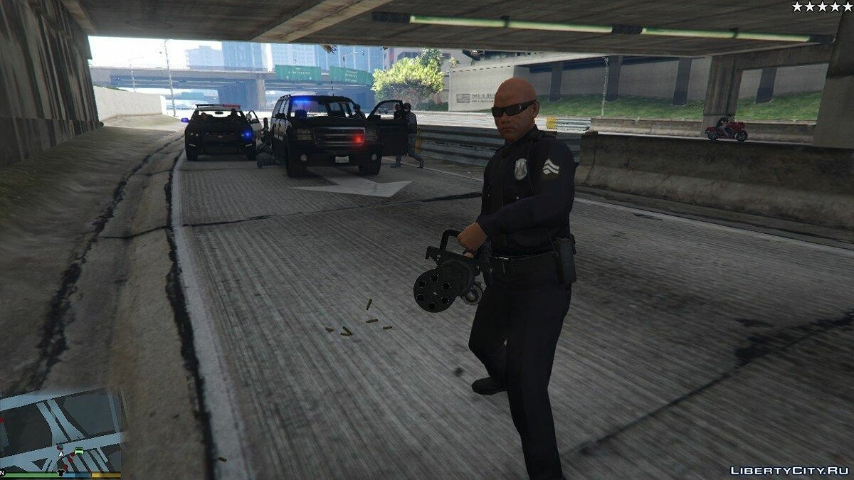 Cops / Police / SWAT / Army have Miniguns 1.0 for GTA 5
