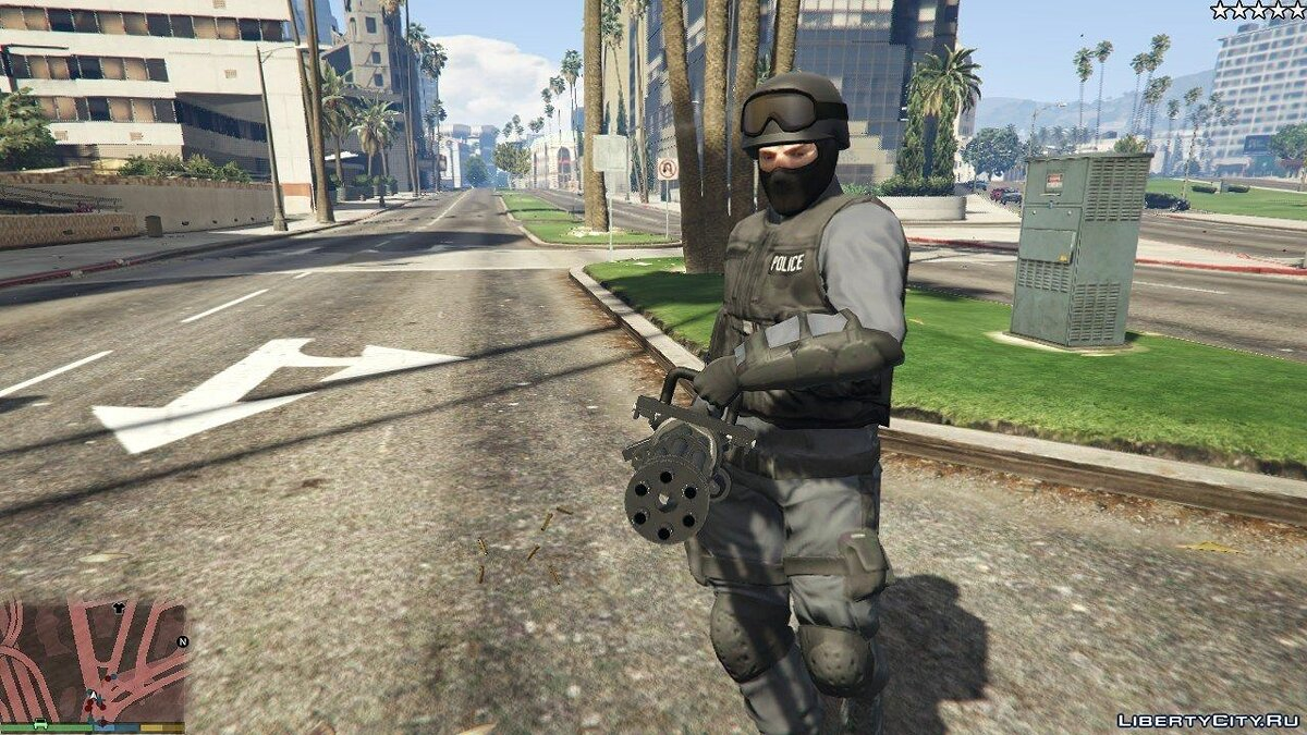 Cops / Police / SWAT / Army have Miniguns 1.0 for GTA 5 - screenshot #2