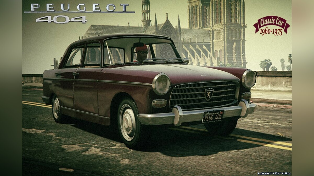 Peugeot car Peugeot 404 [Add-On / Replace | Tuning | Template | LODS] 1.0 for GTA 5