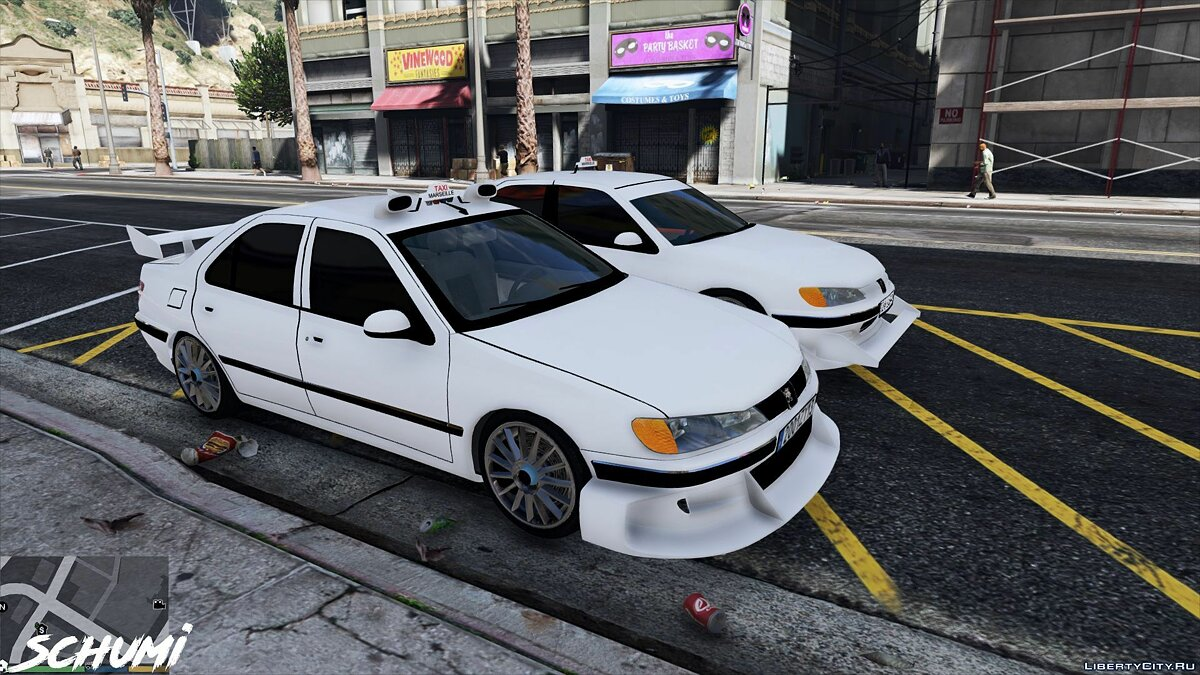 Peugeot car Peugeot 406 (Taxi and Taxi2) [Add-on] 1.0 for GTA 5