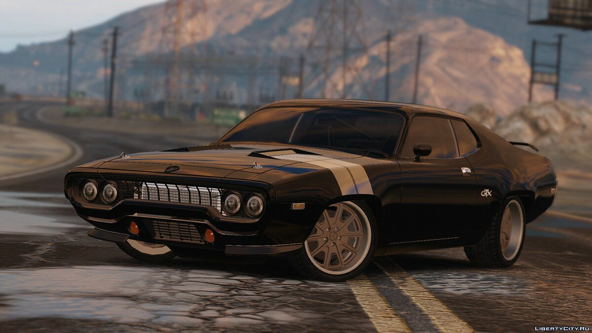 Plymouth car 1971 Plymouth RoadRunner GTX 440 (Fate and the Furious) [Add-On / Replace] 1.0 for GTA 5