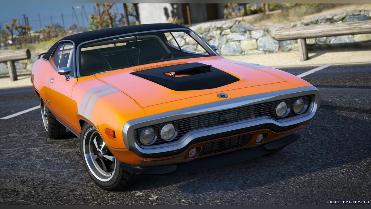 Plymouth car Plymouth gtx 1971 1.0 for GTA 5