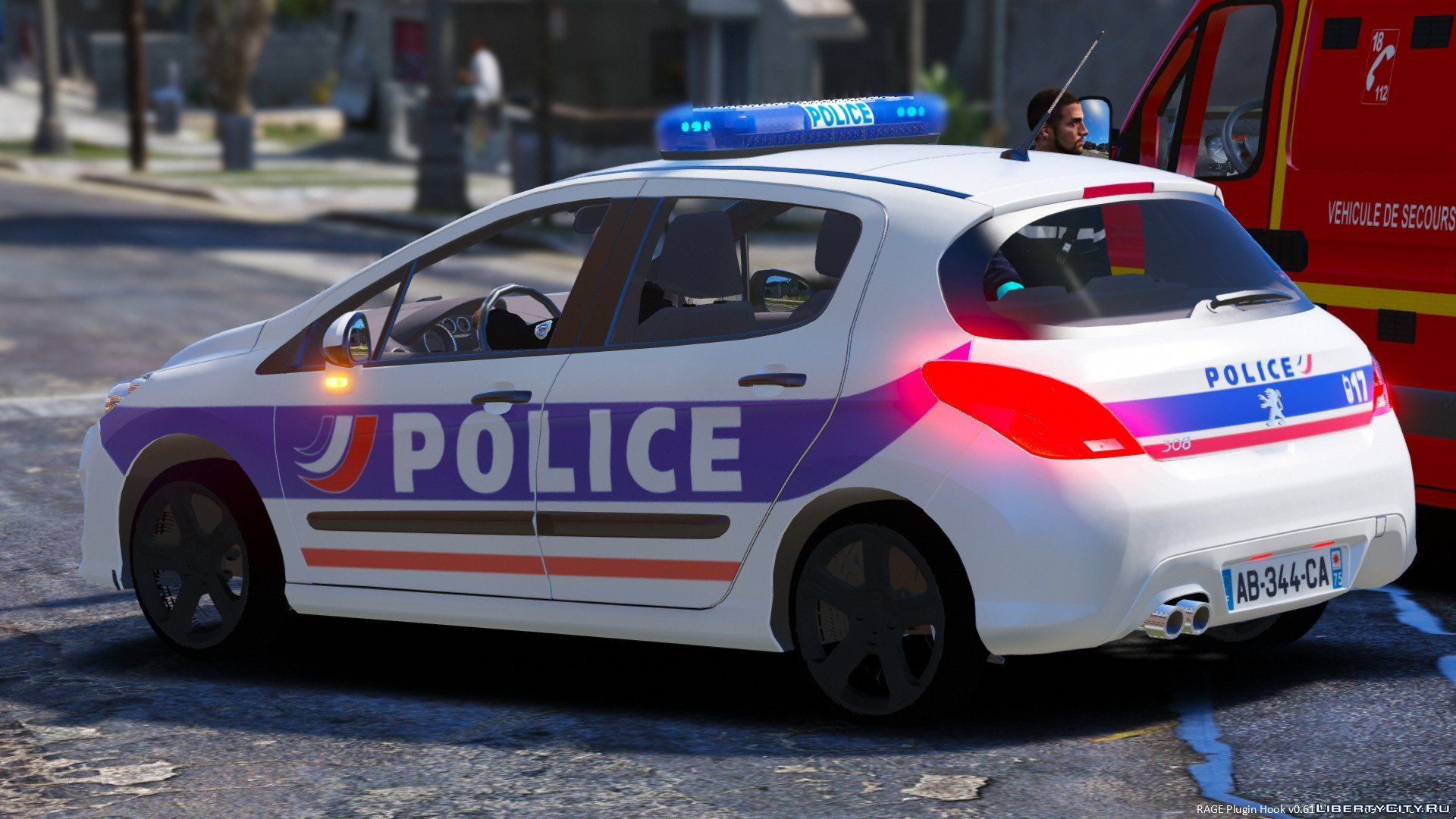 Peugeot 308 Police Nationale For Gta 5