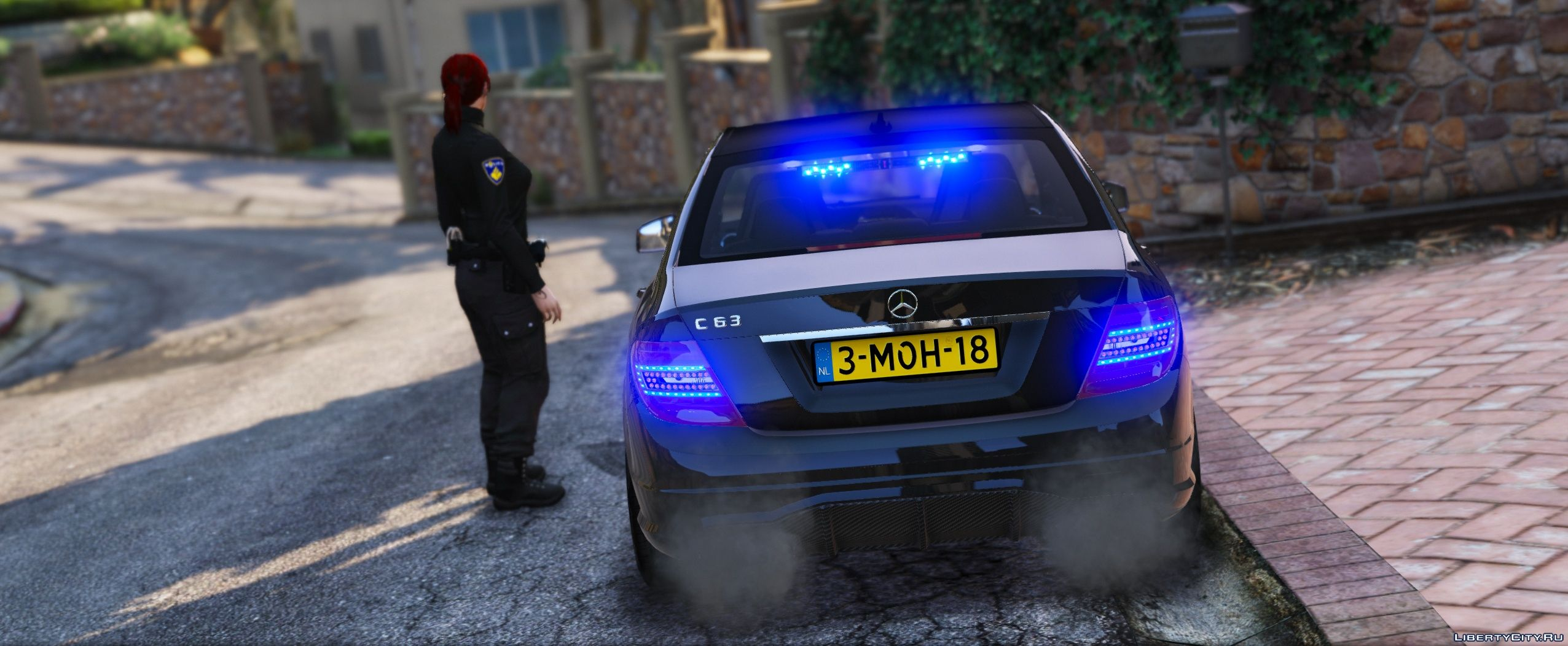 Mercedes-Benz C63 AMG Unmarked Police [ELS] 1 1 for GTA 5