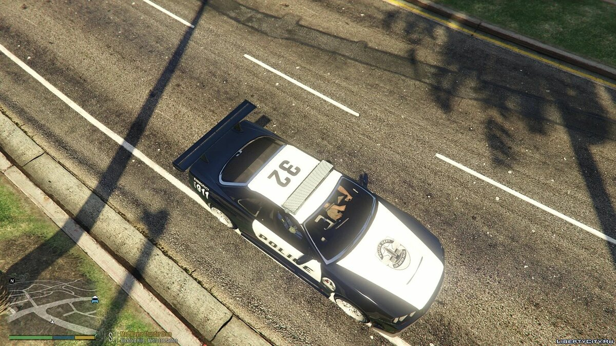 Police car Nissan R34 Skyline Police [Replace | Template] 1.0 for GTA 5