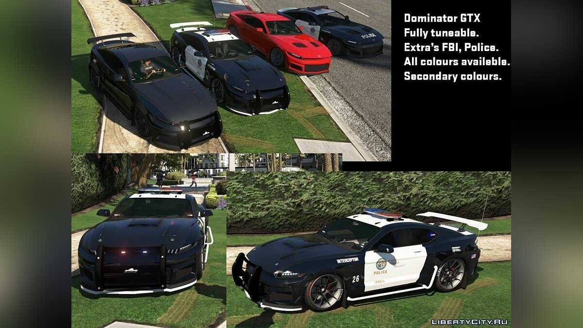 Police car Collection of modern patrol cars (own sounds and auto installation) for GTA 5